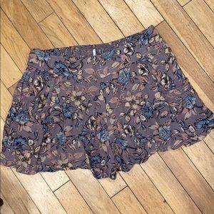 Free people floral shorts bottom pants denim jeans